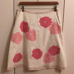 Like-New Kate Hill hibiscus 🌸 flower A-line skirt